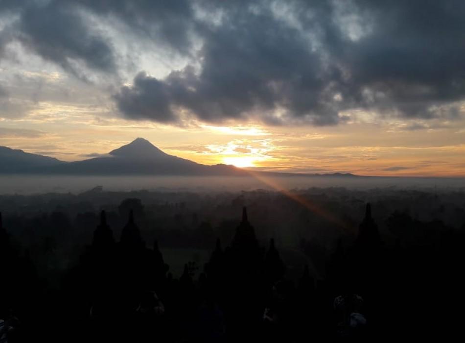 Borobudur Sunrise from Yogyakarta