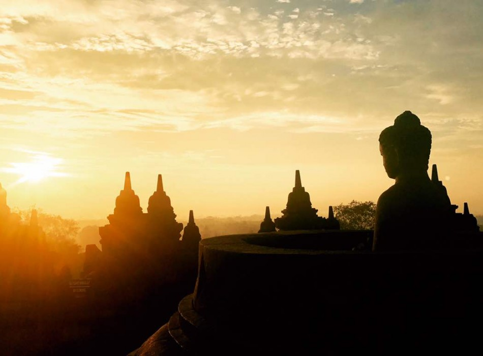 Amazing Borobudur Sunset